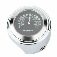1pc Motorcycle Modified Handlebar Mount Dial Thermometer Waterproof Aluminium