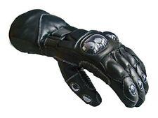 Norman Winter Leather Motorcycle Gloves for Men - Black (MBG01)