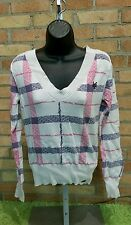 Zoo York Stripped Long Sleeve Striped VNeck Sweater Shirt Womens Medium