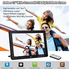 """12""""inch HD 16:9 LED Digital Photo Frame Picture MP3 MP4 Movie Player Remote X2S3"""