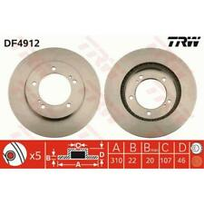TRW 2x Brake Discs Vented Painted Black DF4912