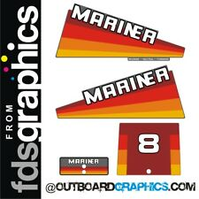 Mariner 8hp rainbow outboard engine decals/sticker kit - other outputs available