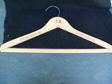 Vtg Pocono Motor Inn Wood Clothes Hanger!!  POCONO MANOR, PA!  SOUVENIR