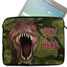 """Personalised Tablet Case DINOSAUR Neoprene Sleeve Cover 7"""" 8"""" 9"""" 10"""" DP37"""