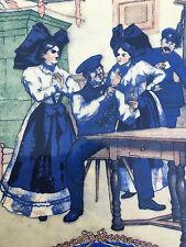 Henri Loux  Obernai Sarreguemines Alsace assiette Stoskopf 15