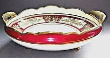 NORITAKE ART DECO double Handled Footed Bowl Or avec Décoration c.1920