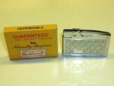 Mastercraft Lifetime match Pocket lighter-moderno de Luxe-Embalaje original - 1950-Japón
