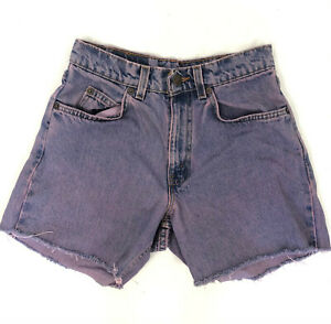 Vintage Levi's Womens 565 Wide Leg Student W27 Jean Cutoff Shorts Purple Mom