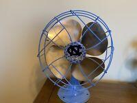 """Emerson 6250-D Brass 10"""" Blade Oscillating Fan /Art Deco North Carolina Tar Heel"""