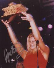 WWF Wwe Jackie Gayda Haas autografiado foto 8X10 Firmada a Mano Foto lucha libre