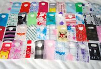 50 MIXED PATTERNED SMALL PLASTIC GIFT JEWELLERY PARTY BAGS 15x9cm
