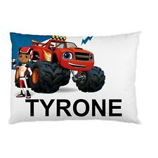 BLAZE TRUCK Personalized childrens kids BED pillow case