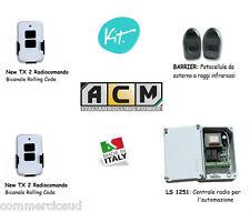 kit Centrale +2 Telecomandi + Fotocellule x automazione di serrande saracinesche