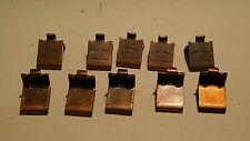 Knape & Vogt Walnut color # 256 - lot Pack of 10 Shelf Support Brackets.