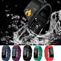 115plus Smartwatch Armbanduhr Schrittzähler Fitness Tracker Pulsuhr Blutdruck DE