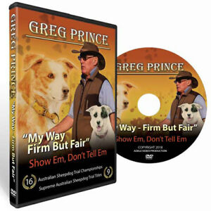 "Greg Prince ""My Way Firm But Fair"" Work Dog Training DVD"