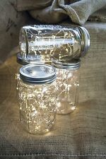 1 strand 20 LED String Fairy Lights Warm White Wedding Mason Jar Decor