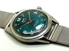 vintage hmt pilot hand winding men's stainless steel India made wrist watch