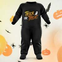 Trick Or Treat Baby Halloween Costumes Baby Grow Romper Suit Gift Outfit Funny