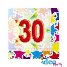 TOVAGLIOLI 30 ANNI 20 pz Addobbi tavola festa adulti 30° Compleanno