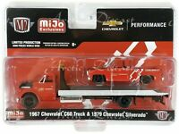 M2 Machine Mijo Exclusive - 1967 Chevy C60 Rollback & 1979 C10 Fleetside 1/64
