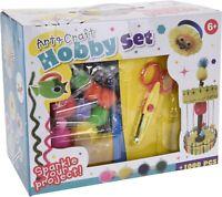 1000 Mega Arts & Crafts Set Hobby Set Glitter Paint Scissors.....