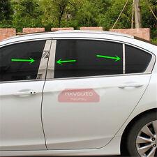 6pcs S.Steel Window Pillar Posts Chrome Trim For Honda Accord 9th 2013-2017