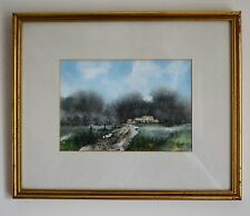 Stanley Rose Signed Watercolour Painting House by the Forest