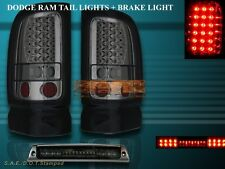 1994-2001 DODGE RAM TAIL LIGHTS SMOKE LED + L.E.D. 3RD BRAKE LIGHT SMOKE