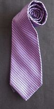 TOMMY HILFIGER SILK TIE IN PURPLE NAVY BLUE LILAC STRIPES OBLONG GEOMETRIC NMCON