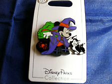 Disney * HALLOWEEN * WITCH MINNIE & FIGARO* New on Card Holiday Trading Pin