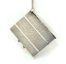 Large Sterling Silver Art Deco Locket On A Chain