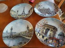 Louis Dali Bradford Exchange Paris France Plates Set Of 4