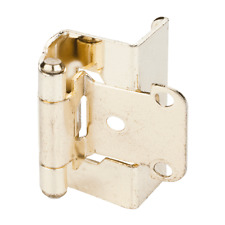 2 Pair (4 Hinges) - Cabinet Door Hinges Polished Brass Full Wrap Self Closing