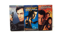 007 James Bond VHS Lot of 3 Movies(License to Kill, Tomorrow Never Dies+1)