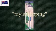 2 x Tongue Cleaners, Bad Good Breath Cleaner Clean Scraper Handle, Blue & Green
