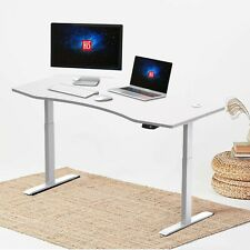 Hi5 Contour Shape Electric Height Adjustable Sit Standing Desk 150*78cm,UK Plug