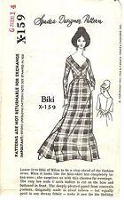 """Vintage 1960s Spadea Pattern Womens LONG DRESS X-159 by Biki Sz 14 B36½"""" UNUSED"""