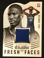 2014-15 Excalibur #5 Joel Embiid RC Fresh Faces Patch Die-Cut Relic Mint Rookie