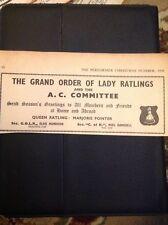 L1-2 Ephemera 1956 Advert Variety Artiste Grand Order Of Lady Ratlings