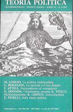 TEORIA POLITICA 3 1995 LOSANO BONANTE ATTINA DOGNINI VITALE CRISTIN PINELLI