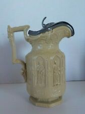 New ListingAntique Charles Meigh Victorian Gothic Apostle Jug Pitcher W/ Pewter Top 7 1/4""