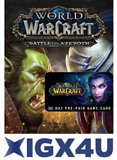 World of Warcraft: WoW Gamecard 30 Tage Spielzeit PC Key Blizzard Code EU