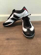 Rare MacBeth Brighton Band Men's US 10 Leather Skate Shoe Black & White w/ Red