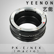 Yeenon Pentax PK lens to SONY E-MOUNT  body PK-NEX Helicoid Adapter(macro)Black