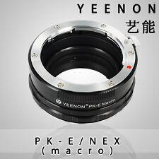 Yeenon Pentax PK lens to SONY E-MOUNT  body PK-NEX Helicoid Adapter(macro)silver