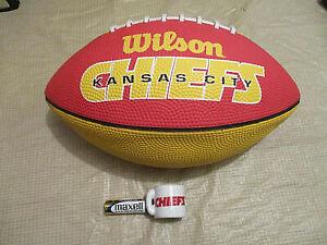 NEW NFL WILSON KANSAS CITY CHIEFS YOUTH JUNIOR FOOTBALL & VTG.,MINI MUG 2-SIDED