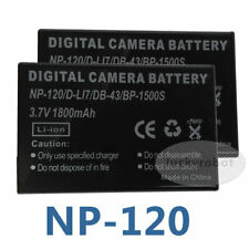 2pcs Battery for Fuji NP-120 NP-120B For Ordro HDV-D325 HDV-D395 HDV-V7 PX1657