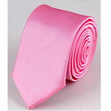 Wedding Skinny Slim Tie Solid Color Plain Silk Men's Jacquard Woven Necktie