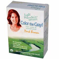 Color the Gray!, Natural Hair Color & Conditioner, Dark Brown, 7 oz (197 gm)